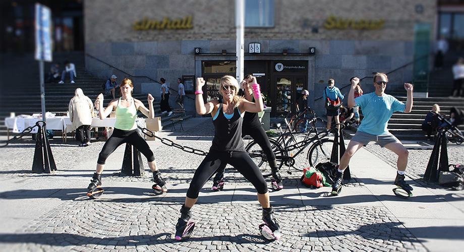 kangoo jumps stockholm, jumping, medborgarplatsen